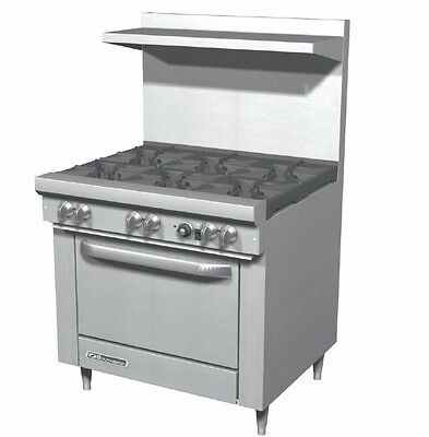 S-Series, 4 Burners - 28K btu, Space Saver Oven - 35K btu,  Southbend S24E