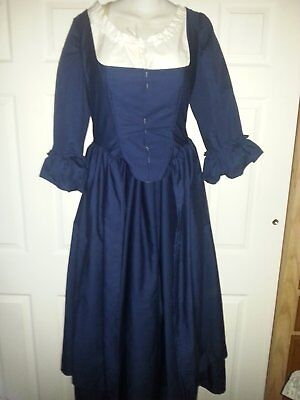 18th Century Historical Reproduction Polonaise Gown and Petticoat size 42 Bust