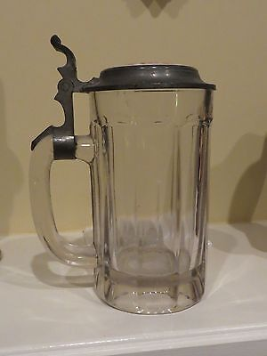 ANTIQUE souvenir mug stein TO MY GOOD FRIEND ANDY FROM SHACK PORCELIAN TOP Beer