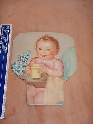 Vintage Superior Gift Product, Baby Mine Salesman's Sample Advertising Paper Fan