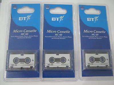BT Micro Cassettes Brand New Packaged MC 60