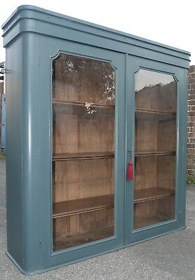 Painted Victorian Wall Cupboard With Key