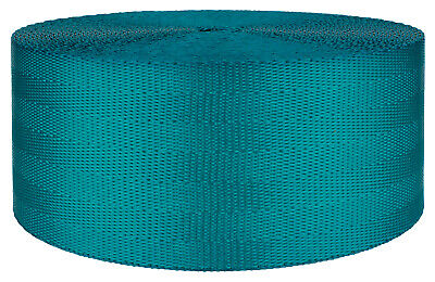 2 Inch Teal Seat-belt Polyester Webbing Closeout, 10 Yards