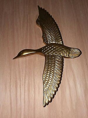 Vintage Solid Brass Bird in Flight Door Knocker Duck Goose