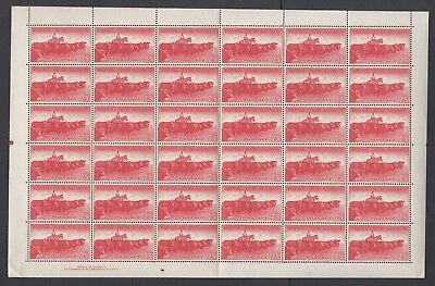 PAPUA NEW GUINEA 1960 2/5d CATTLE sheet of 36, Mint Never Hinged