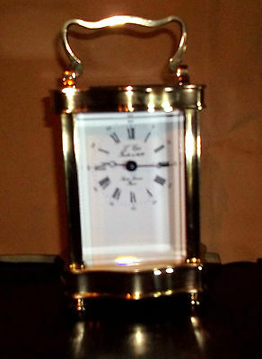 Quality L'epee Serpentine Cased Timepiece Carriage Clock In Good Working Order.