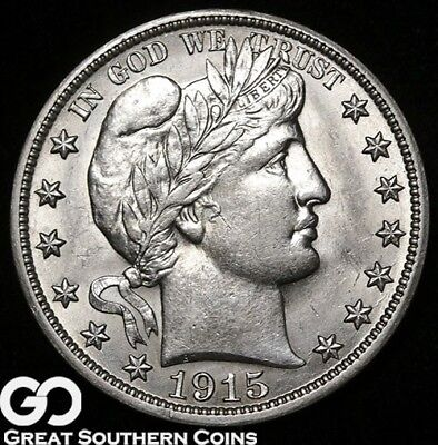 1915-S Barber Half Dollar, Sharp Beautiful Blazer, Choice BU++