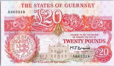 Guernesey 20 Pounds  1989 - Admiral Lord of Saumarez
