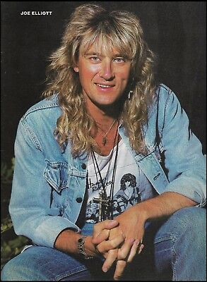 Def Leppard Joe Elliott 8 x 11 color pinup photo 1992 print