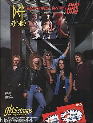 Def Leppard GHS guitar strings ad 8 x 11 advertisement Joe Elliot Phil Collen