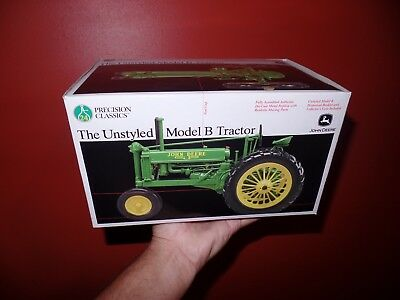 John Deere 1/16 Scale UNSTYLED MODEL B TRACTOR New in BOX Precision Classics!