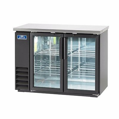 Back Bar Refrigerator, two-section, LED lighted, NSF, Arctic Air ABB48G