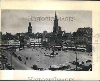 1944 Press Photo Pre war view of Strasbourg France reached by US 7th Army