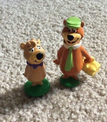 1990 YOGI BEAR HANNA BARBARA APPLAUSE PVC FIGURE LOT Vtg BOO BOO Rare Cartoon