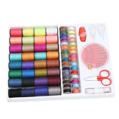 100pcs Sewing Kit Measure Scissor Thimble Thread Needle Storage Box Travel Set S