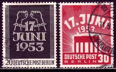 BERLIN GERMANY Mi. #110-111 scarce used stamp set! CV $48.00