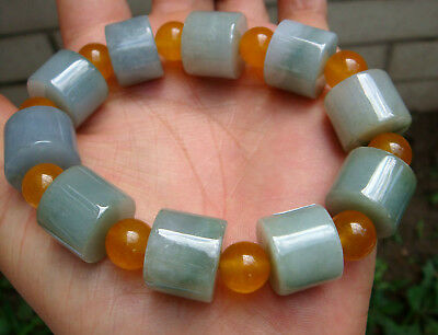 HKCertified Untreated Natural Grade A Type Jadeite Jade Circle Bead 路路通 Bracelet