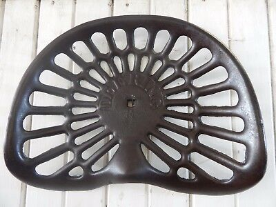 Antique Cast Iron Deering Horse Drawn Farm Implement Seat / Vintage Tractor Seat