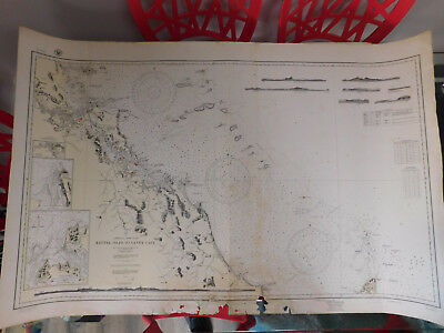NAUTICAL CHART KEPPEL ISLES TO SANDY CAPE No. 3453 Aug 1932