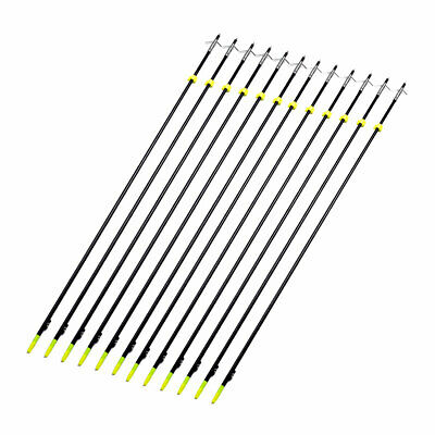 """3X Black 35"""" Archery Bow Fishing Hunting Arrow with Broadheads and Safety Slides"""