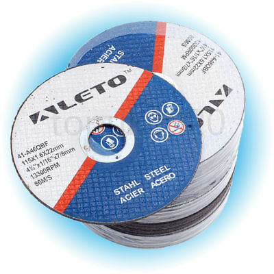 """50 x METAL CUTTING BLADE DISC STAINLESS STEEL ANGLE GRINDER THIN 115mm 4.5"""""""