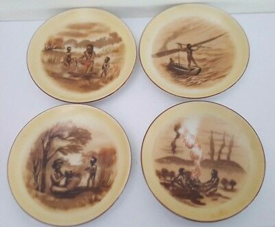 Set of four Brownie Downing style Aborginal Plates
