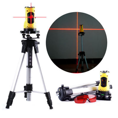 Laser Level 360° Rotary Self-Levelling Cross Line Measuring Tripod Stand & Case