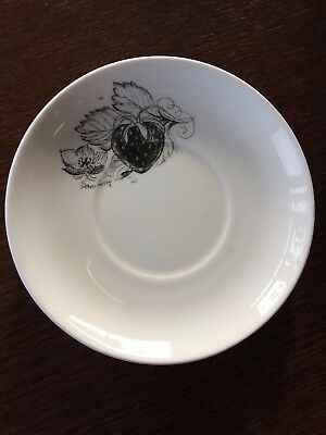 Vintage Susie Cooper Black Fruit Saucer Strawberry