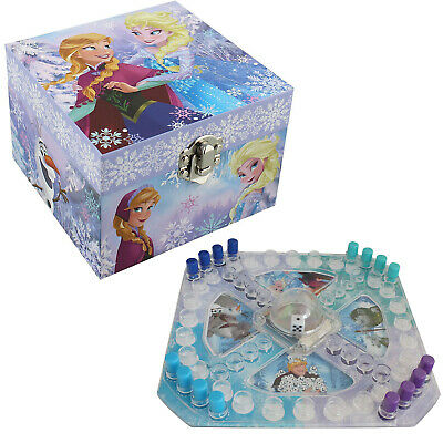 "Girl's Disney ""frozen"" Anna & Elsa Themed Musical Jewellery Box Plus Pop Up Game"