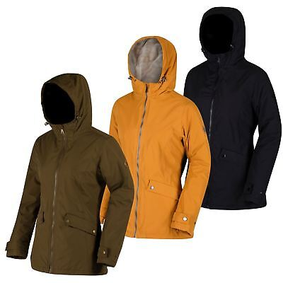 Regatta Womens Brienna Waterproof Insulated Hooded Raincoat Jacket From £28.98