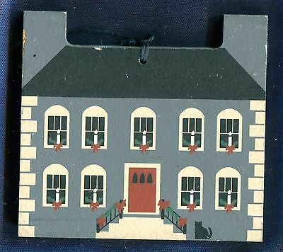 Cat's Meow Village Shaw House 1984 Nantucket Christmas Limited Edition Ornament
