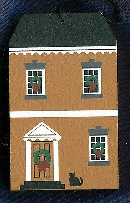 Cat's Meow Village Powell House Nantucket Christmas Series Ornament 1998