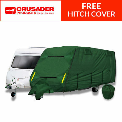 Crusader CoverPro Breathable 4-Ply Full Green Caravan Cover - Fits 17-19ft