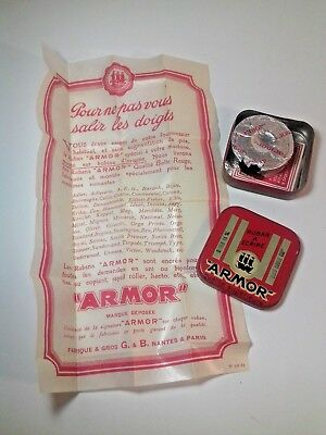 Rare Ad Typewriters Ribbon ARMOR Tin 1940s Fahrband Blechdose Complet Set !!!
