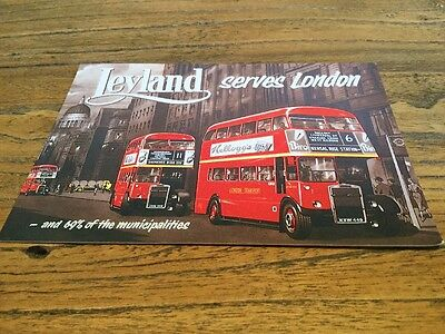 Postcard  Leyland Buses Serve London