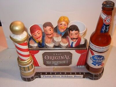 "VINTAGE 1950's PABST BLUE RIBBON BEER ""BARBER SHOP QUARTET"" METAL DISPLAY #P930"