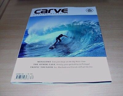 Carve surfing magazine #182 OCT 2017 Jonas Claesson, Tom Lowe, Cave Surfing &