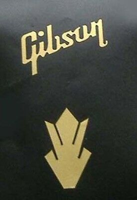 metallic gold vinyl gibson word and crown guitar headstock band sticker fret