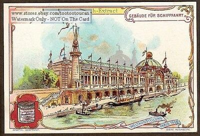 Paris Exposition 1900: Palace Of Navigation 1900 Trade Ad Card
