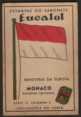 Flag of Monaco c1949 Trade Advertising Card