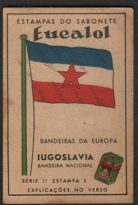 Flag of Yugoslavia c1949 Trade Advertising Card