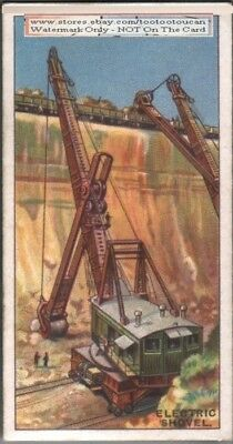 Earth Moving Electric Power Shovel 90+ Y/O Trade Ad Card