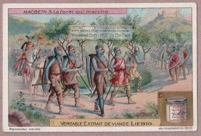 Shakespeare Macbeth The March In The Forest c1915 Trade Ad Card