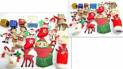 Vintage Lot Of Mixed Figures Christmas Tree Ornament