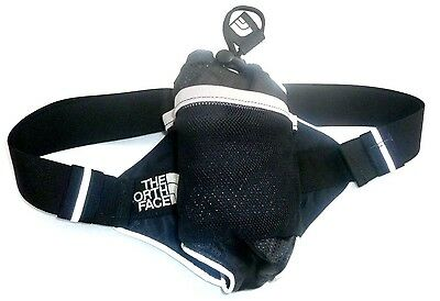 The North Face Water Bottle Holder Fanny Pack Hiking Cross Country Black Silver