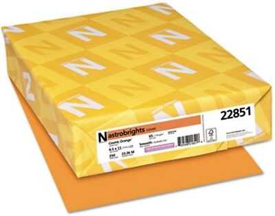 Neenah Astrobrights 22851 Card Stock, Cosmic Orange, 65 lb