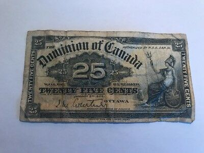 1900  Dominion Of Canada 25 Cents  Fractional Banknote DC-15a