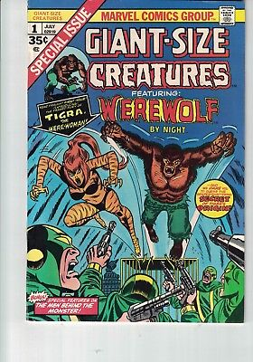 Marvel Comic Giant-Size Creatures #1 July 1974 WEREWOLF By Night TIGRA 1st app