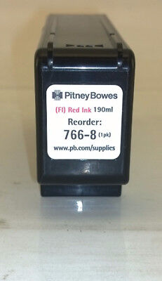 Fluorescent Red Ink for Pitney Bowes Postage Meter 766-8 used