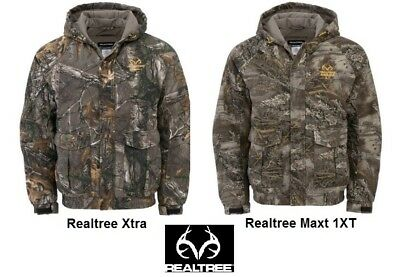 Realtree Camo Men's Insulated Hooded Bomber Parka / Jacket Camouflage - Hunting